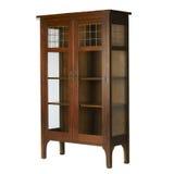 стекло bookcase искусств doored кораблями Стоковое Изображение