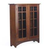 стекло bookcase искусств doored кораблями Стоковое Фото