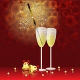 стекло champain Стоковое Изображение