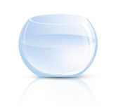 Стеклянная ваза или круглый аквариум Стоковое Фото