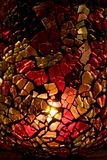 стеклянная домодельная запятнанная ваза стоковые фотографии rf