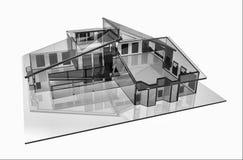 стеклянная дом иллюстрация штока