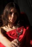стеклянная женщина вина Стоковые Изображения RF
