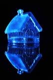 стеклянная игрушка дома Стоковое фото RF