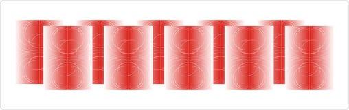 стеклянная красная ваза Стоковое Изображение