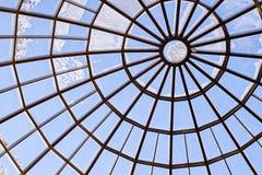 стеклянная крыша круглая зодчество самомоднейшее Голубой цвет Стоковое Изображение