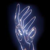 стеклянная ладонь прозрачная Стоковое Изображение RF