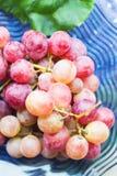 Стеклянная пластинка виноградин пука Стоковые Изображения RF