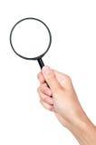 стеклянная рука увеличивая Стоковое фото RF