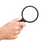 стеклянная рука увеличивая Стоковые Фотографии RF