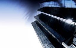 стеклянная самомоднейшая башня стали офиса Стоковые Изображения RF