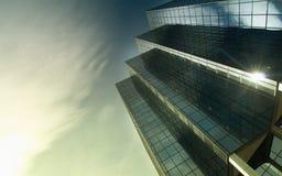 стеклянная самомоднейшая башня стали офиса Стоковая Фотография RF