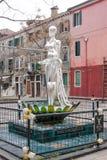 Стеклянная скульптура человеческой диаграммы от стекла Murano в историческом стекл-дуя острове Murano в Венеции Италии Стоковая Фотография RF