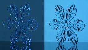 стеклянная снежинка Стоковое Изображение