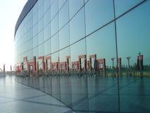 стеклянная стена отражения Стоковые Фотографии RF