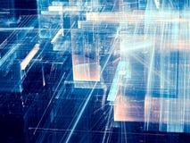 Стеклянная структура - изображение конспекта цифров произведенное бесплатная иллюстрация