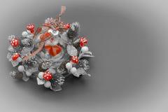 Стеклянная сфера с сердцем в гирлянде Стоковое Фото