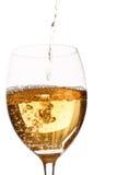 стеклянное белое вино Стоковое Изображение
