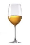 стеклянное белое вино Стоковое фото RF