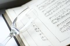 стеклянное вино нот Стоковое Изображение RF