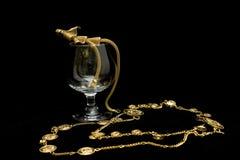 стеклянное вино ожерелья стоковые изображения rf
