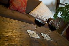 стеклянное вино таблицы Стоковая Фотография RF
