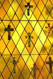 стеклянное запятнанное вероисповедное Стоковые Изображения RF