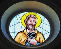 стеклянное запятнанное святой peter Стоковая Фотография RF