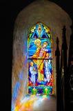 стеклянное запятнанное madonna Стоковое Изображение RF