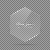 Стеклянное знамя Прозрачные геометрические формы Стоковое фото RF