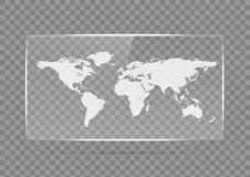 Стеклянное знамя Прозрачные геометрические формы Стоковая Фотография RF