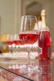 стеклянное игристое вино Стоковые Фото