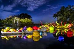 Стеклянное искусство на пруде Стоковые Изображения