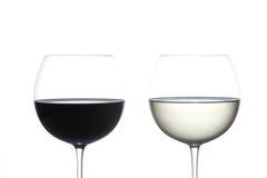 стеклянное красное белое вино Стоковые Изображения RF
