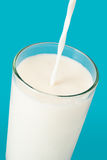 стеклянное молоко Стоковое фото RF