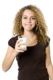 стеклянное молоко Стоковые Изображения RF
