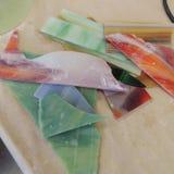 Стеклянное необходимое для проекта искусства цветного стекла Стоковое фото RF