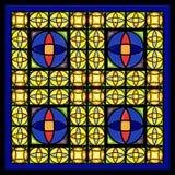 стеклянное окно пятна иллюстрация вектора