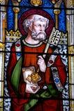стеклянное святой peter запятнало окно стоковое фото