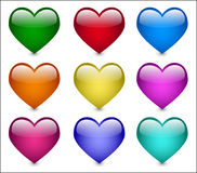 стеклянное сердце иллюстрация штока