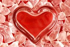 стеклянное сердце Стоковые Изображения RF
