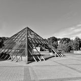 Стеклянное piramid стоковое фото