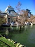 стеклянное retiro парка дворца madrid Стоковая Фотография RF