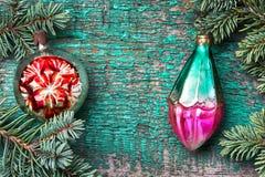 Стеклянные безделушки рождества Стоковые Изображения