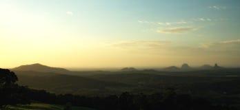 стеклянные горы дома стоковое фото rf