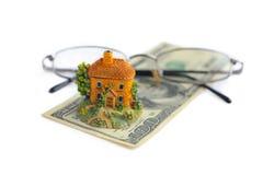стеклянные деньги дома Стоковые Изображения