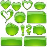 стеклянные зеленые формы Стоковые Изображения RF