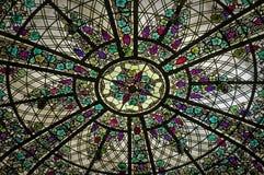 Стеклянные картины - орнамент цветного стекла Стоковое фото RF