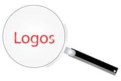 стеклянные логосы увеличивая иллюстрация штока