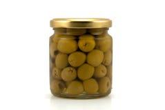 стеклянные оливки опарника Стоковое фото RF